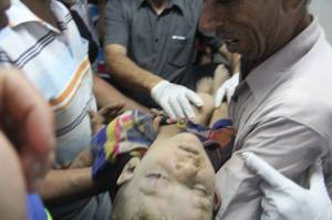 One of Sheiber's Children who was killed in an attack against their house on Thursday July 17