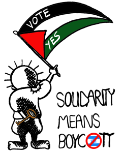 A design done by SOAS BDS campaign in support of the academic boycott