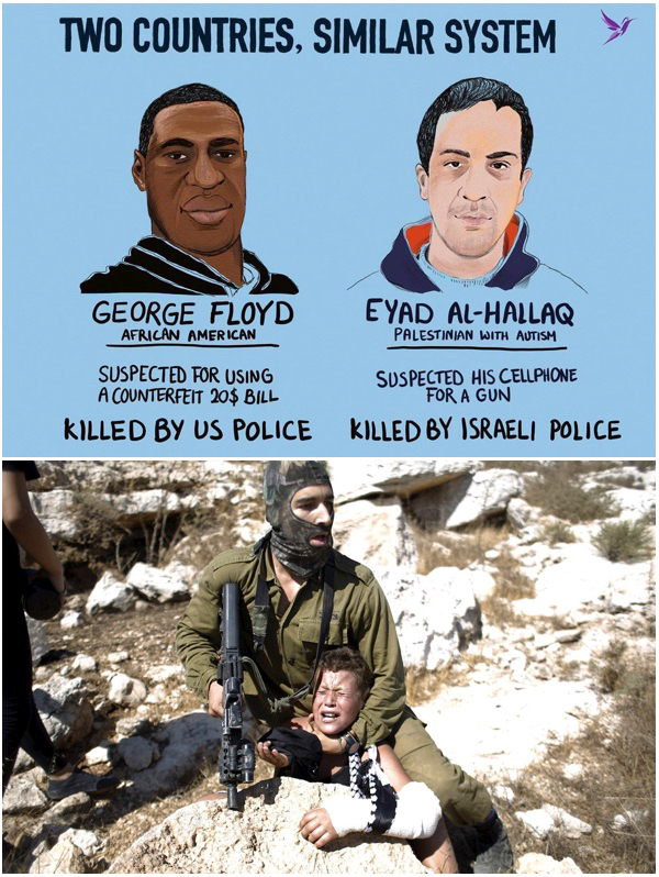 Tamimi child Eyad Hallaq and George Floyd